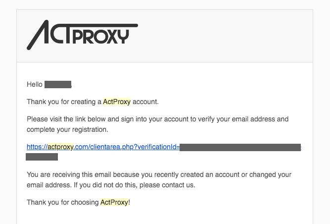 ActPorxy - メール確認